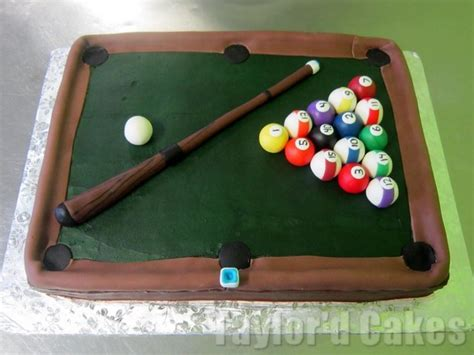 pool table billiards cake ideas and designs