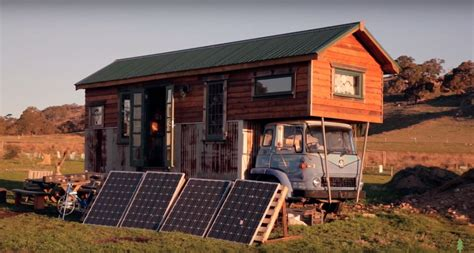 The Handmade House - grid handmade house truck made with 85 recycled materials