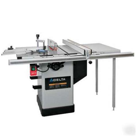 delta industrial table saw delta 36 717b 10 quot hybrid table saw w 30 quot biesemeyer