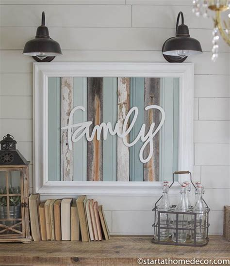 reclaimed home decor reclaimed wood turquoise family sign by start at home