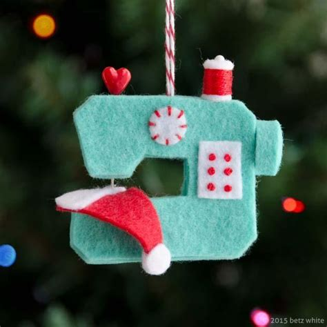 ho ho sew sewing machine ornament by betz white craftsy