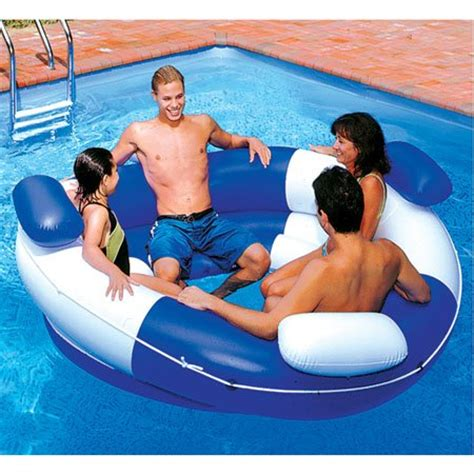 amazon pool floats new inflatable floating island lounger multi seat swimming