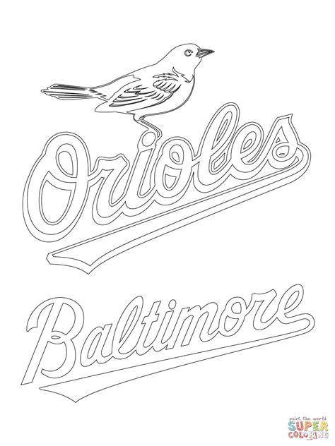 Baltimore Orioles Logo Coloring Page Free Printable Baltimore Orioles Coloring Pages