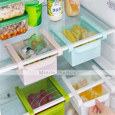 Diy Fridge Shelf by Diy Kitchen Fridge Space Saver Organizer Slide Shelf