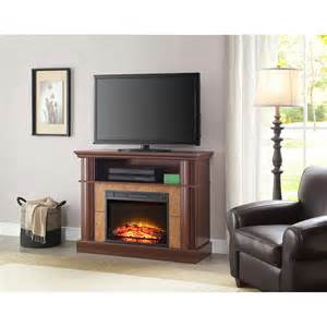 whalen 41 quot cherry media fireplace for tvs up to 50