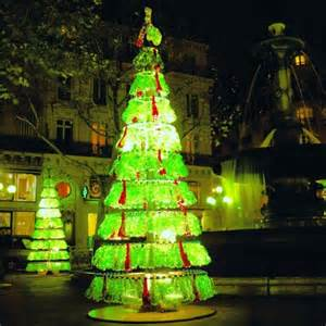 christmas tree made from recycled plastic bottles indeed