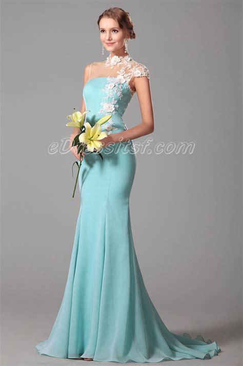 light blue evening dress trumpet lace neck light blue evening dress formal