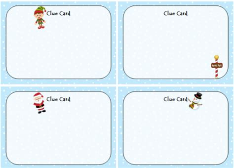 clue card templates scavenger hunt a