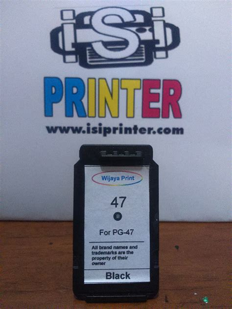 Canon Pg47 Pg 47 Pg 47 by Canon Pg 47 Tinta Black Ink Cartridge Pg47 Isi Printer