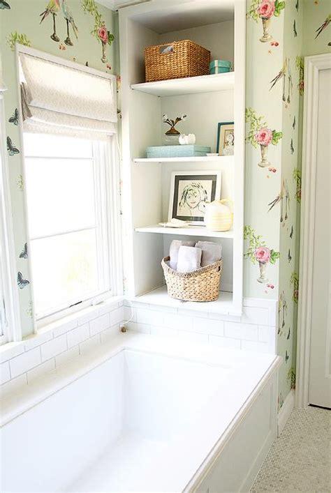 shelf over bathtub shelving over windows design ideas