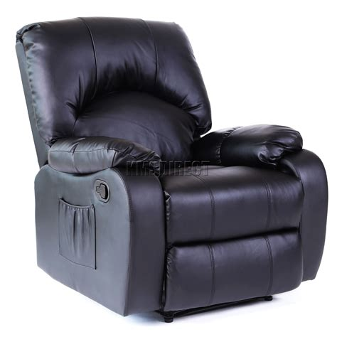 leather recliners with massage and heat foxhunter leather massage cinema recliner sofa chair
