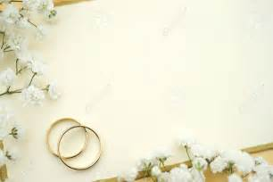 blank wedding invitation stock photo ivory wedding invite blank card with gold rings and