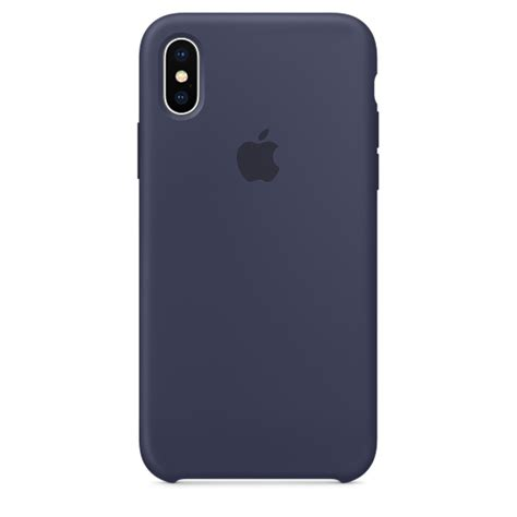Iphone X Leather Midnight Blue Original Hardcase Soft Kulit Apple iphone x silicone midnight blue apple