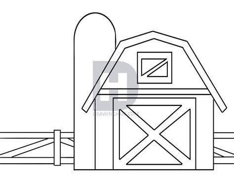 scheune zeichnen how to draw a barn step by step drawing guide by