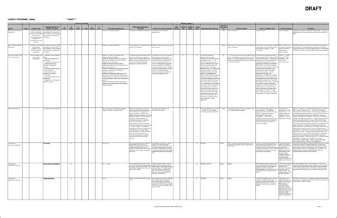 Excel planning template