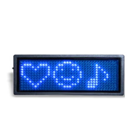 Usb Scrolling Led Name Badge by Blue Usb Scrolling Programmable Led Message Name Badge Tag