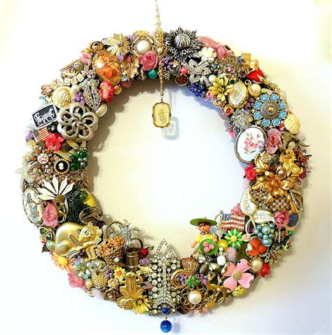 Handmade Antique Jewelry - handmade vintage jewelry wreath or summer