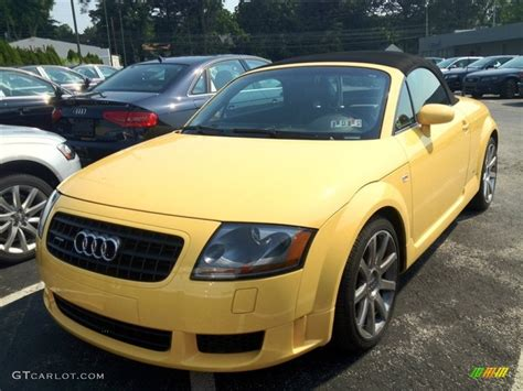 2004 imola yellow audi tt 3 2 quattro roadster 67340457