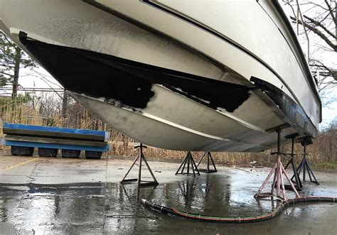 boat paint stripping hull cleaning service anti fouling paint removal