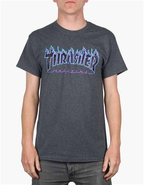 Sweater Hoodie Thrasher Jaspirow Shopping 1 thrasher logo t shirt grey blue purple skate t shirts skateboarding tees clothing