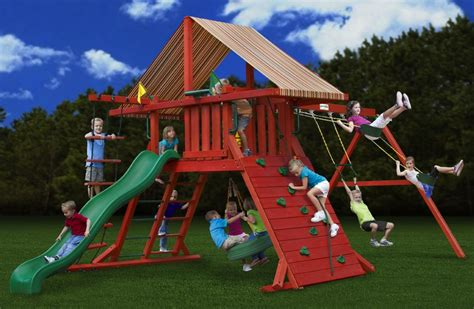 wooden swing sets free shipping gorilla playsets sun climber i canvas forest green