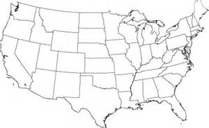 blank map of united states to label