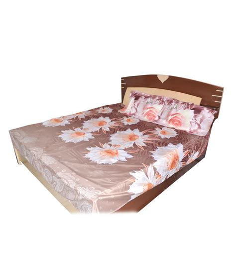 best bed sheets for the price amanya brown cotton floral double bed sheets best price in