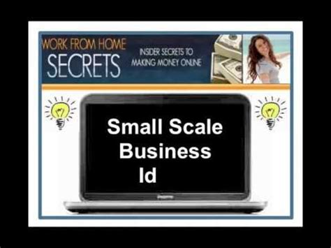 Small Scale Home Business Ideas Small Scale Business Ideas Great Business Startup Ideas