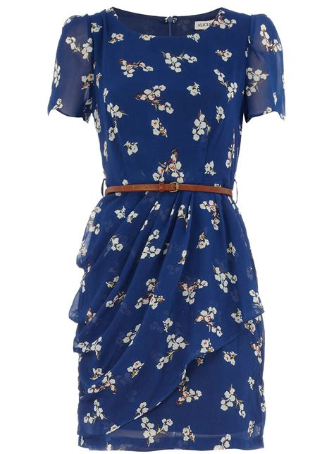 Vintage Floral Tea Dresses From Dorothy by Navy Floral Belted Tea Dress Dorothy Perkins United