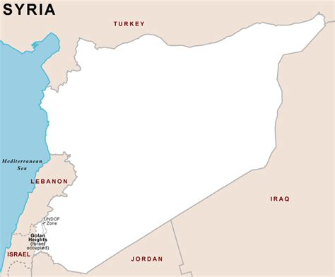 syria outline map outline map of syria syria country