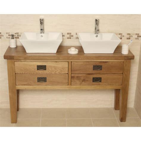 rustic bathroom vanity units valencia double rustic oak bathroom vanity unit click oak