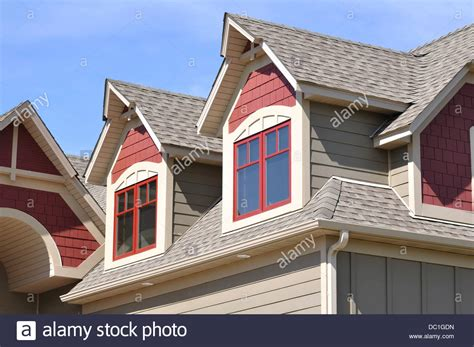 Dormer And Gable Gable Dormers And Roof Of Residential House Usa Stock