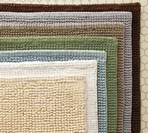 Pottery Barn Bathroom Rugs Textured Organic Bath Rug Traditional Bath Mats By Pottery Barn