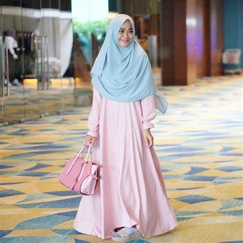 Gamis Syari Sifon 17 model baju muslim syar i 2018 terbaru stylish modis dan elegan