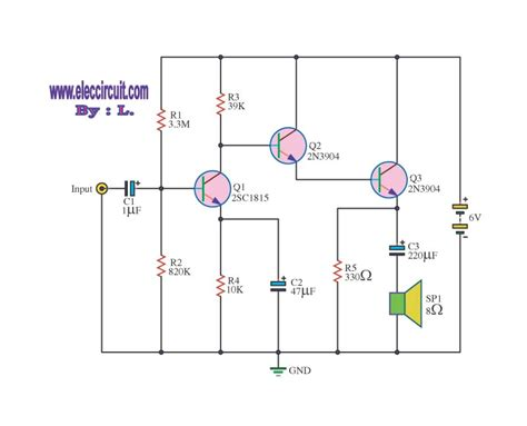 transistor circuits small lifiers on high impedance electronic projects circuits