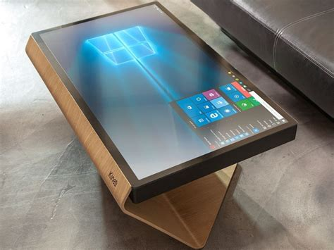 touch screen desk surface the kineti offers a look at a windows 10 living room