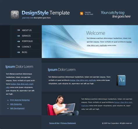 Professional Web Template 4418 Clean Corporate Website Templates Dreamtemplate Free Professional Business Website Templates
