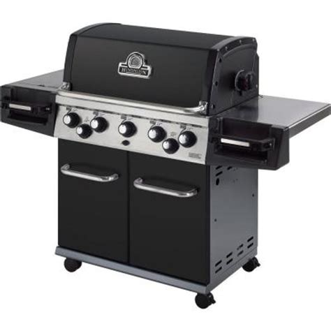 huntington pits huntington patriot 5 burner propane gas grill with side