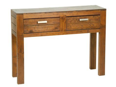 mesa recibidor de madera  cajones muebles de entrada