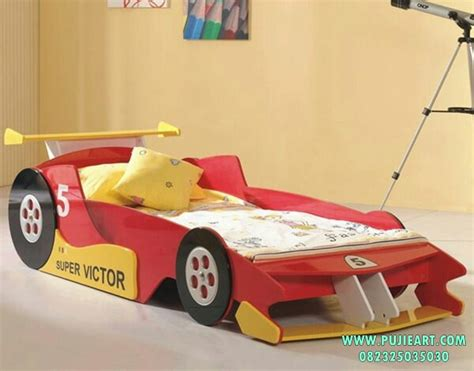 Lu Tidur Bentuk Mobil ranjang tidur anak bentuk mobil balap ranjang tidur anak