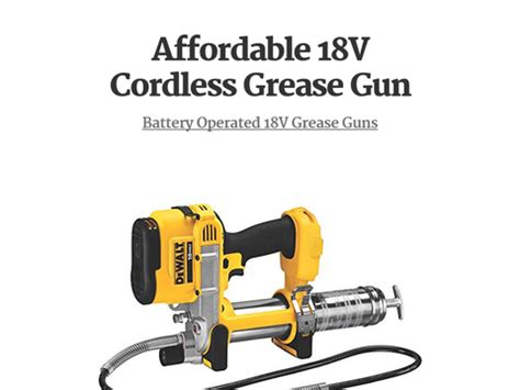 best 18 volt cordless grease gun best 18v cordless grease gun battery operated