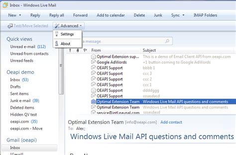xp tutorial mail windows live mail xp api