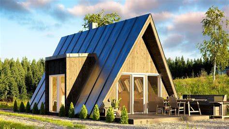 affordable duo75 a frame house can be built by just two