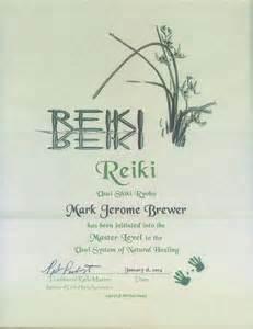 master certificate usui shiki ryoho