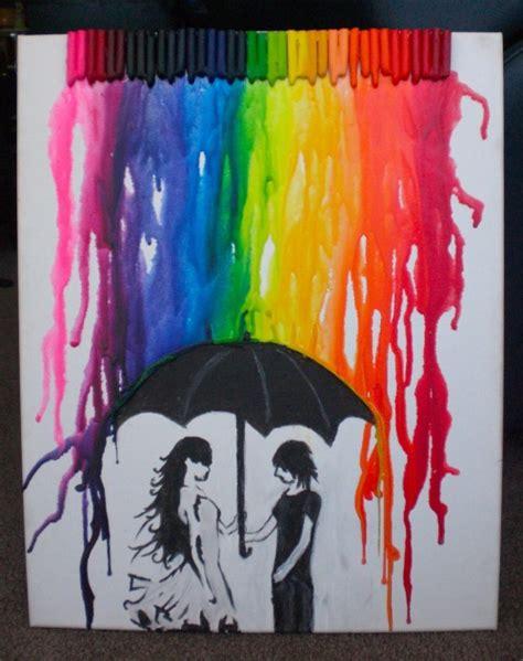 painting ideas tumblr crayon rain on tumblr