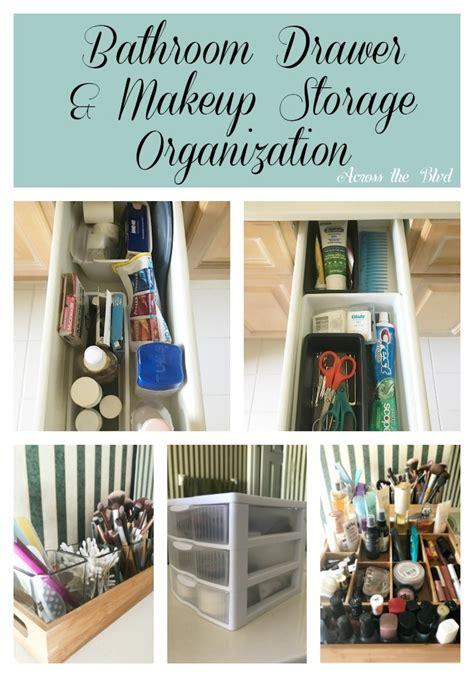 bathroom drawer and makeup storage organization across