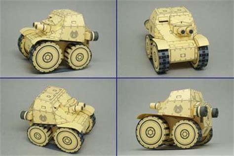 sd carro veloce tank papercraft paperkraft net free