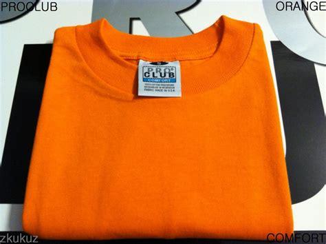 pro club comfort t shirts 1 new proclub comfort plain t shirt blank orange tee pro