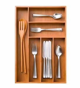 new seville classics bamboo utensil kitchen drawer large