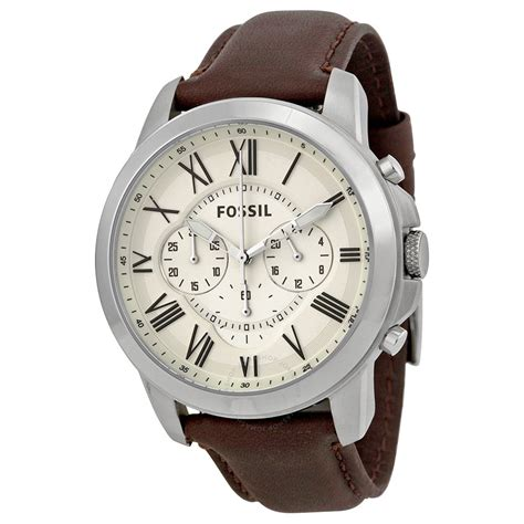 Fossil Chroco fossil grant chronograph egg shell s fs4735 grant fossil watches jomashop